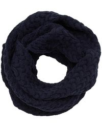 Blue Blue Japan Navy Moebius Loop Snood - Blue