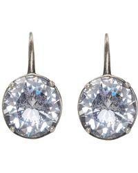 Bottega Veneta - Silver Cubic Zirconia Earrings - Lyst