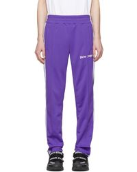 Palm Angels Pantalon de survetement mauve Classic - Violet