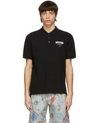 Moschino - ブラック ロゴ ポロシャツ - Lyst