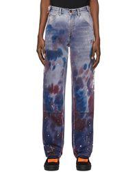Off-White c/o Virgil Abloh Purple Reconstructed Carpenter Jeans - Multicolor
