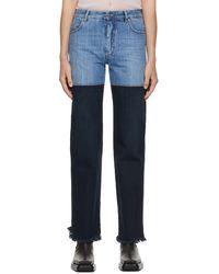 Peter Do Blue & Indigo Combo Jeans