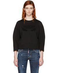 DSquared² - Black Felted Logo Sweatshirt - Lyst