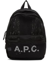 A.P.C. - ブラック Rebound バックパック - Lyst