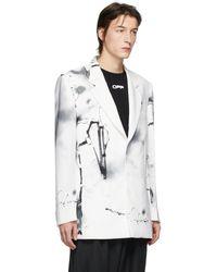 Off-White c/o Virgil Abloh Blazer blanc Futura Abstract