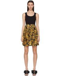 Versace Jeans Couture - ブラック Barocco ドレス - Lyst