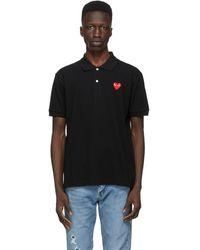COMME DES GARÇONS PLAY ブラック Heart Patch ポロシャツ