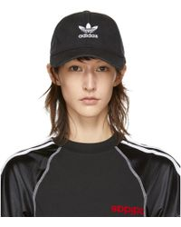 adidas Originals - Black Washed Adic Cap - Lyst