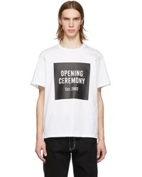 Opening Ceremony - ホワイト ボックス ロゴ T シャツ - Lyst