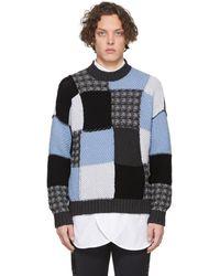 JW Anderson - ブルー And グレー パッチワーク セーター - Lyst