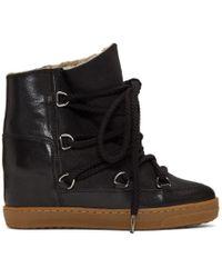 Isabel Marant Nowles Shearling-lined Aprés-ski Boots - Black