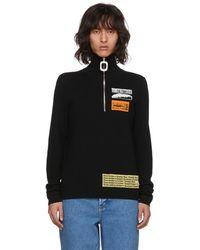 J.W.Anderson - Black Bubblegum Zip Sweater - Lyst