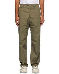 Visvim Pantalon chinos droit kaki - Vert