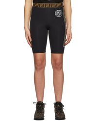 Fendi Black Band Bike Shorts