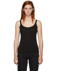 Skin Black Ribbed Tank Top