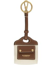 Burberry ブラウン ツートーン Airpods ケース キーチェーン