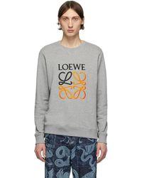 Loewe - グレー エンブロイダリー スウェットシャツ - Lyst