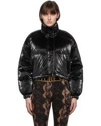 Versace Jeans Couture リバーシブル マルチカラー All Over Print ダウン ジャケット - ブラック