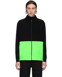 Harris Wharf London Black & Green Polaire Vest