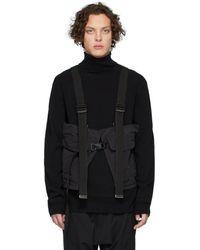 The Viridi-anne Black Cargo Vest