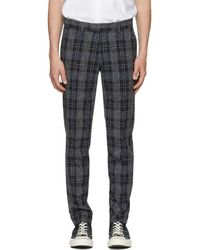 Tiger Of Sweden - Navy And Grey Gordon Check Trousers - Lyst