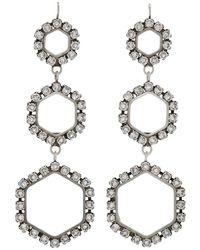 Isabel Marant - Silver Triple Circle Drop Earrings - Lyst