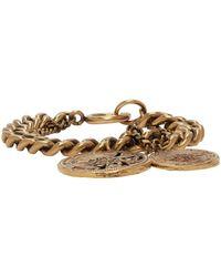 Acne Studios Gold Coin Charm Bracelet - Metallic