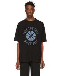 424 ブラック Basketball T シャツ
