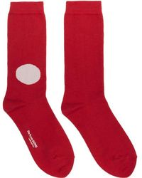 Blue Blue Japan | Red Japanese Flag Socks | Lyst
