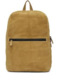 Common Projects - Tan Suede Simple Backpack - Lyst