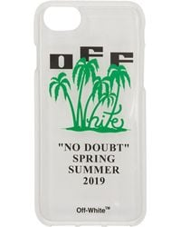 Off-White c/o Virgil Abloh - Transparent And Green Island Iphone 8 Case - Lyst