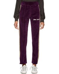 Palm Angels - Purple Chenille Lounge Pants - Lyst