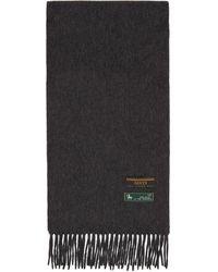 Gucci Foulard en laine et cachemire gris