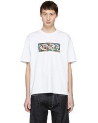 KENZO ホワイト Memento ロゴ T シャツ