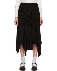 Y's Yohji Yamamoto Jupe midi noire Shirring