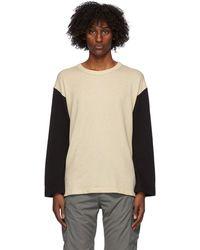 Visvim Off-white & Black Baseball Long Sleeve T-shirt