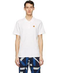 KENZO ホワイト Tiger Crest ポロシャツ