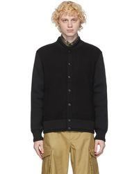 Givenchy - ブラック ウール ブルゾン ボンバー ジャケット - Lyst