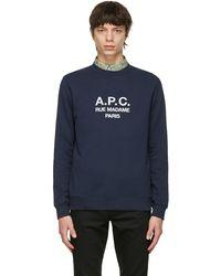 A.P.C. - ネイビー Rufus スウェットシャツ - Lyst