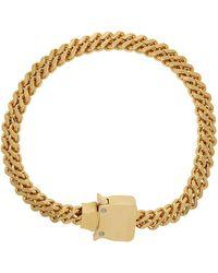 1017 ALYX 9SM ゴールド Cubix Chain ネックレス - ブラック
