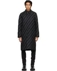 Givenchy リバーシブル ブラック And グレー Chain コート
