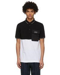 Dolce & Gabbana ブラック & ホワイト ポロシャツ