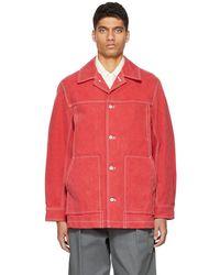 Kuro Paraffin Canvas Jacket - Red