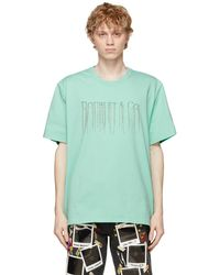 Doublet - グリーン Chain Fringe Embroidery T シャツ - Lyst
