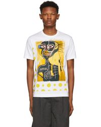 Comme des Garçons - White And Yellow Basquiat Print T-shirt - Lyst