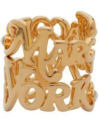 Marc Jacobs New York Magazine Edition ゴールド ロゴ スタック リング - メタリック
