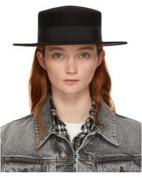 Maison Michel - Black Felt Waterproof Kiki Hat - Lyst