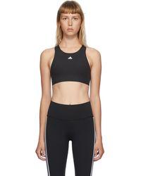 adidas Originals ブラック Ult Alpha スポーツ ブラ