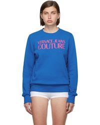 Versace Jeans Couture ブルー ロゴ スウェットシャツ