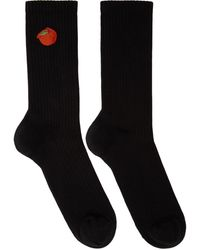 Acne Studios Ssense Exclusive Black Peach Socks